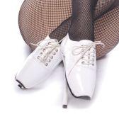 BALLET-18 Extrémně vysoké podpatky bílá