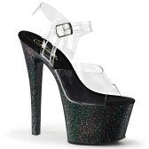 SKY-308MG Černé průhledné sexy boty pro tanec na tyči