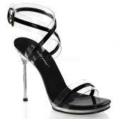 CHIC-05 Černá společenská obuv na jehlovém podpatku