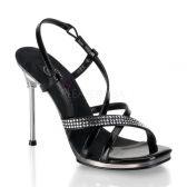 CHIC-36 Páskové společenské boty na podpatku