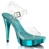COCKTAIL-508 Sexy tyrkysové boty na podpatku a platformě