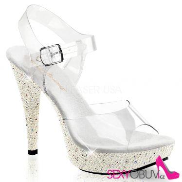 COCKTAIL-508PRL Luxusní sandály na podpatku
