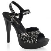 COCKTAIL-509RS Černá společenská obuv na podpatku