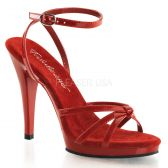 FLAIR-436 Červená společenská sexy obuv na podpatku