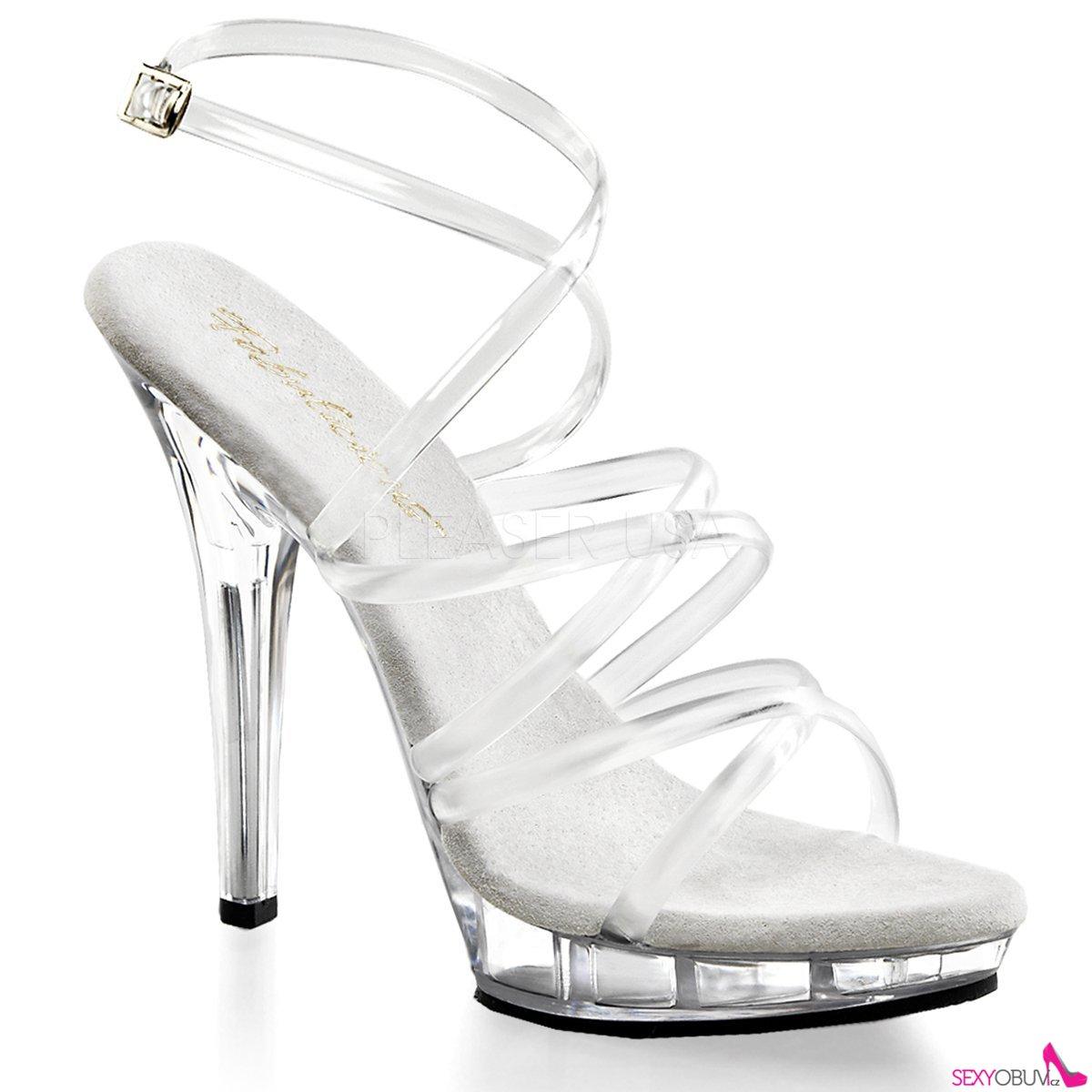 f266bc4d29 LIP-106 Páskové průhledné společenské boty na podpatku
