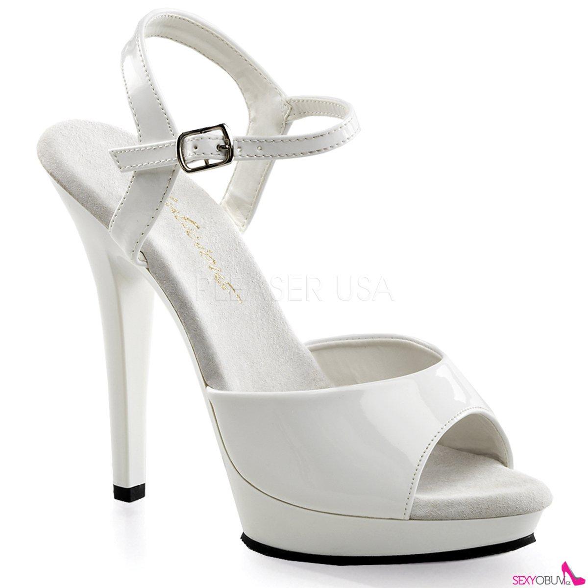LIP-109 Společenské bílé sexy boty na podpatku  365b1f144b