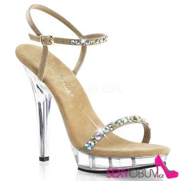 LIP-131 Společenská luxusní pásková obuv na podpatku