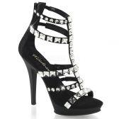 LIP-158 Páskové černé luxusní boty na podpatku