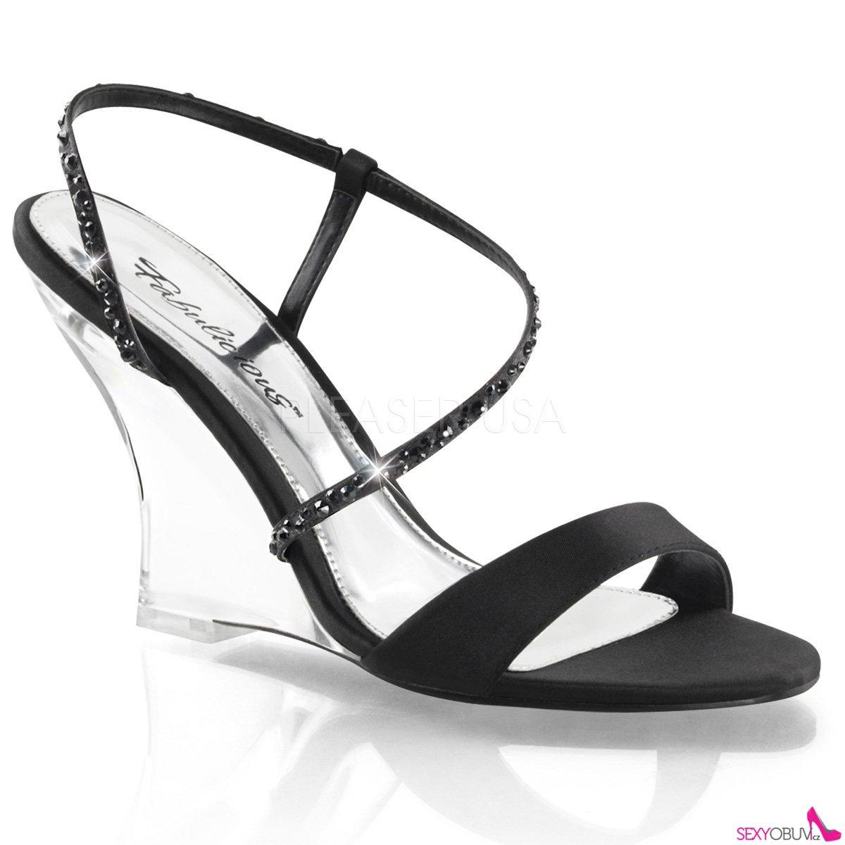 LOVELY-417 Plesová obuv na klínku ef59897d8a