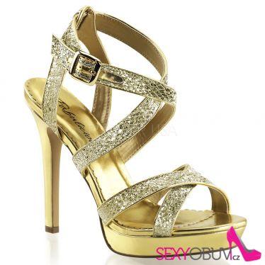 LUMINA-21 Zlaté dámské luxusní lodičky na podpatku