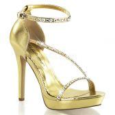 LUMINA-26 Zlaté páskové dámské luxusní lodičky na podpatku