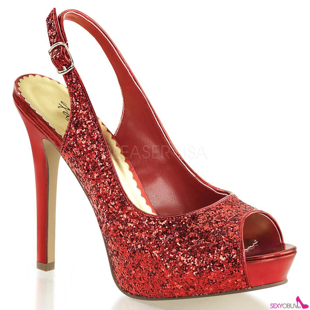 116039424e4b LUMINA-28G Luxusní červené dámské lodičky