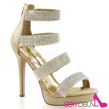 LUMINA-30 Zlaté luxusní boty na podpatku