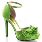 LUMINA-36 Elegantní zelené dámské lodičky na podpatku