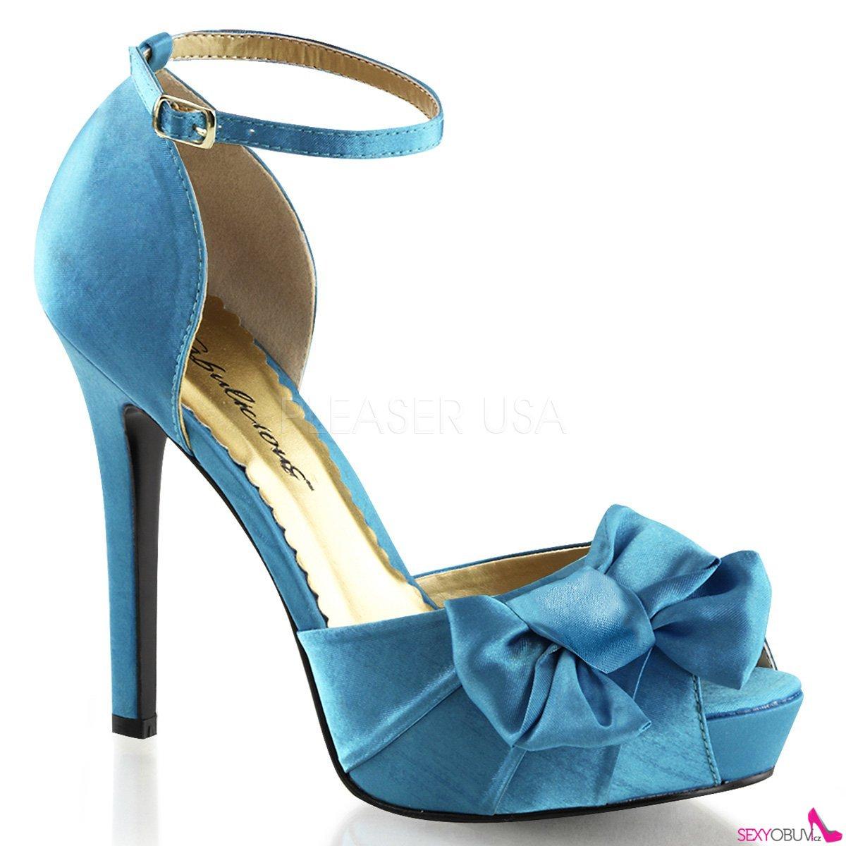 LUMINA-36 Elegantní modré dámské lodičky na podpatku 25327941f3