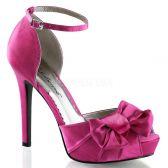 LUMINA-36 Elegantní hot růžové dámské lodičky na podpatku