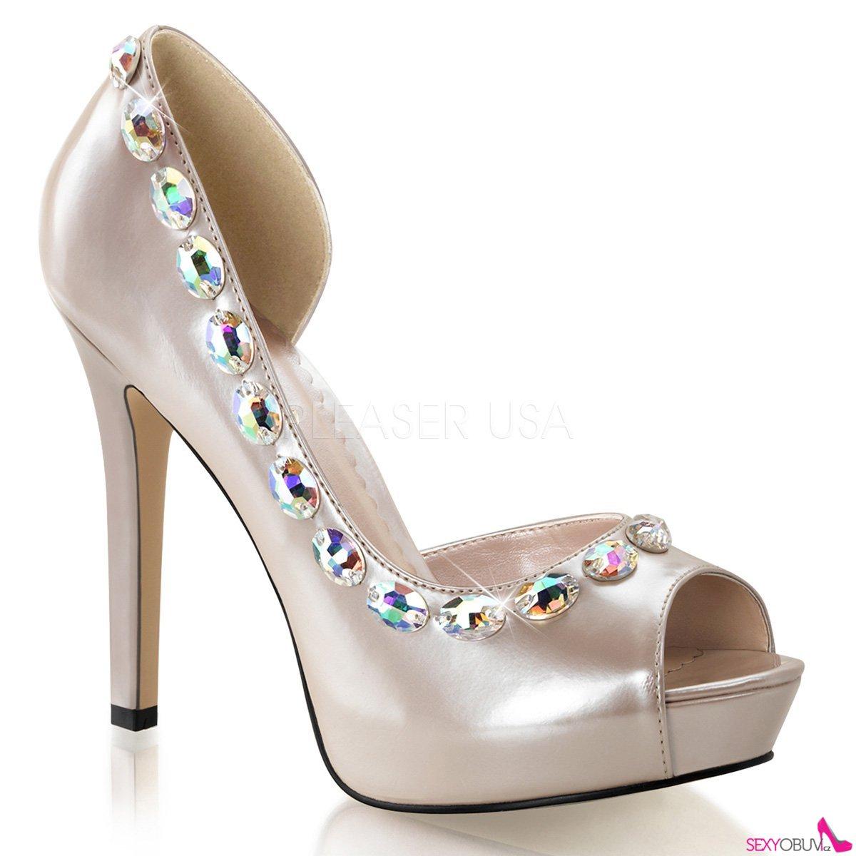 LUMINA-38 Elegantní luxusní dámské lodičky na podpatku šampaň ... 86a4581c97