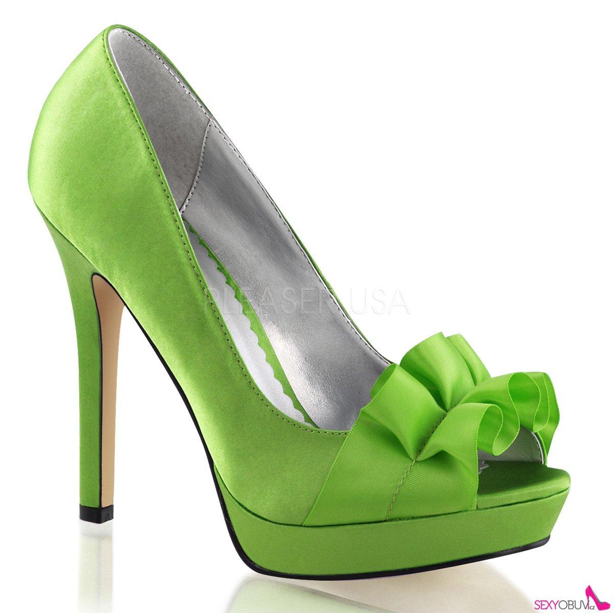 LUMINA-42 Elegantní zelené luxusní dámské lodičky na podpatku ... 24a6ba01d8
