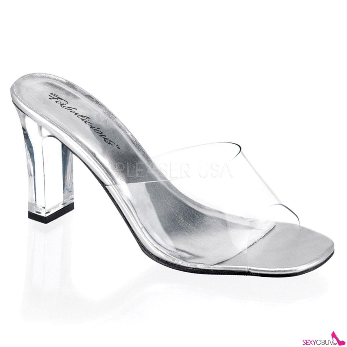 6c0a14125d9 ROMANCE-301 Průhledné pantoflíčky na středním podpatku