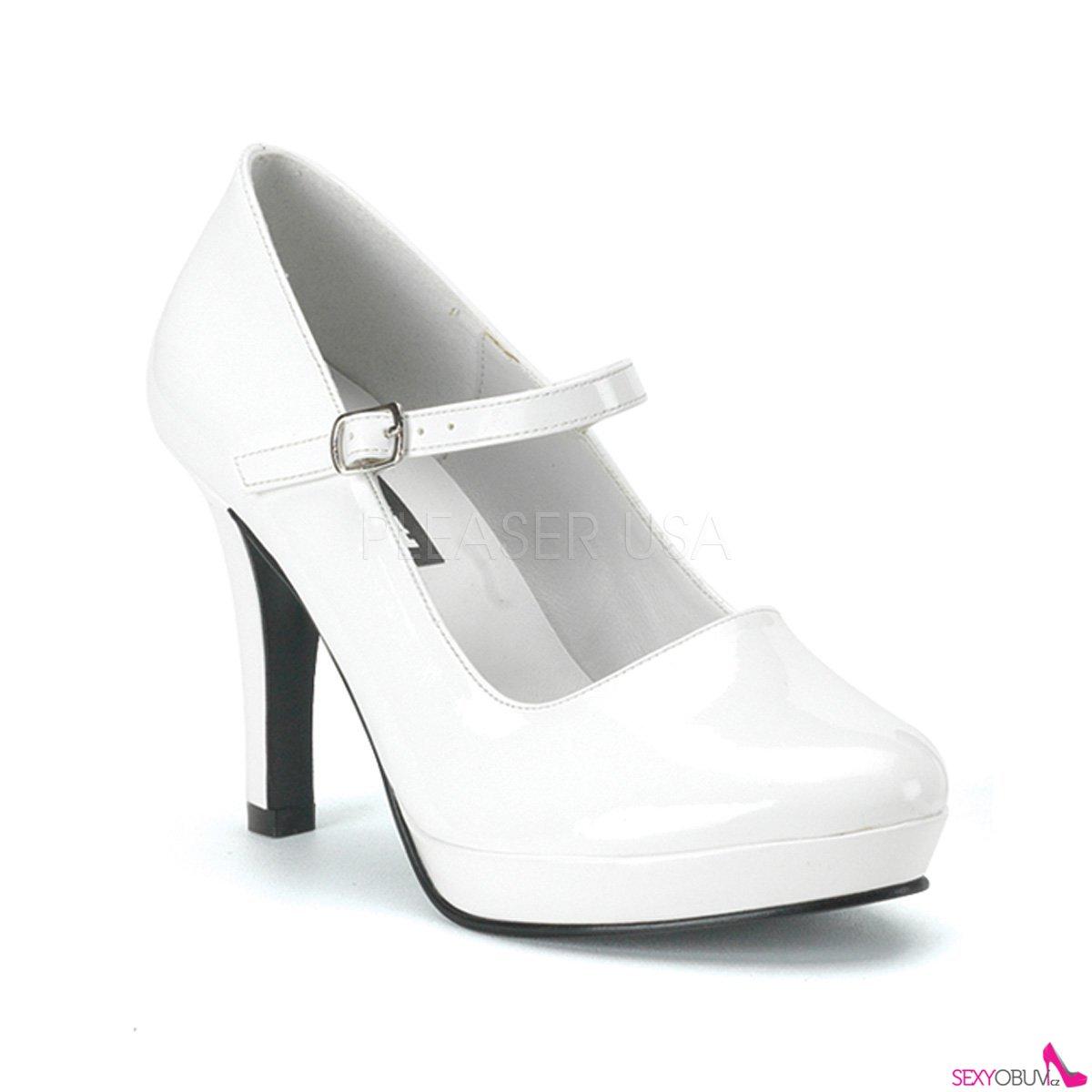 1140378642d4 CONTESSA-50 Sexy bílé lodičky na podpatku