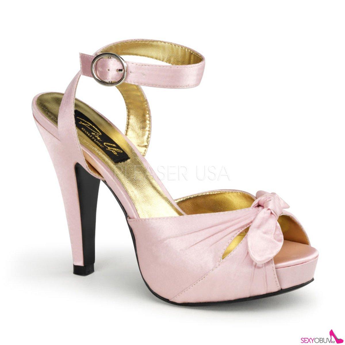 b42c737b0ab BETTIE-04 Růžové svatební a společenské boty na podpatku