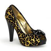 BETTIE-12 Zlaté společenské boty na podpatku