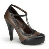 BETTIE-22 Hnědé společenské boty na podpatku