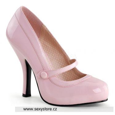 CUTIEPIE-02 Retro růžové lodičky na podpatku