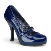 CUTIEPIE-02 Retro modré lodičky na podpatku