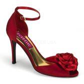 ROSA-02 Červené sandálky na podpatku