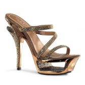 DELUXE-603 Luxusní bronzové páskové sandály pleaser