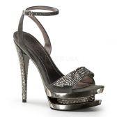 FASCINATE-633 Luxusní sandále na podpatku a platformě s ozdobnými kameny