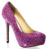 PRESTIGE-20 Luxusní fialové dámské lodičky na podpatku