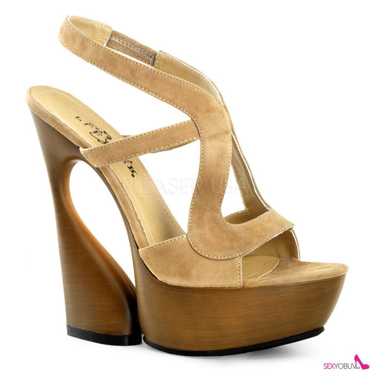 bcacabe59eb SWAN-657 Moderní krémové luxusní boty na klínkovém podpatku labutí styl