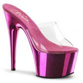 ADORE-701 Klasické tmavě růžové sexy pantofle na podpatku a platformě