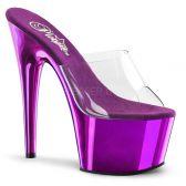 ADORE-701 Klasické fialové sexy pantofle na podpatku a platformě
