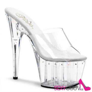 ADORE-701LS Luxusní průhledné sexy boty na podpatku