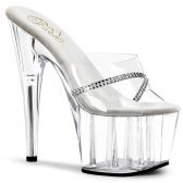 ADORE-701R Průhledná sexy obuv na podpatku