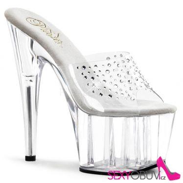 ADORE-701RS Průhledná luxusní sexy obuv na podpatku