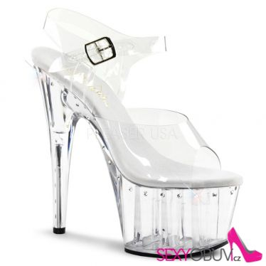 ADORE-708LS Strip průhledné taneční sexy boty na podpatku