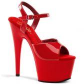ADORE-709 Klasické červené sexy boty na podpatku a platformě