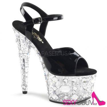 ADORE-709MR Krystalové sexy sandály na vysokém podpatku