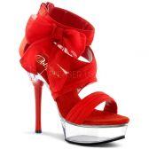 ALLURE-664 Sexy červená/průhledná obuv na vysokém podpatku