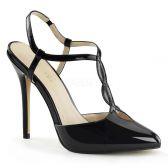 AMUSE-16 Elegantní černé dámské lodičky na podpatku