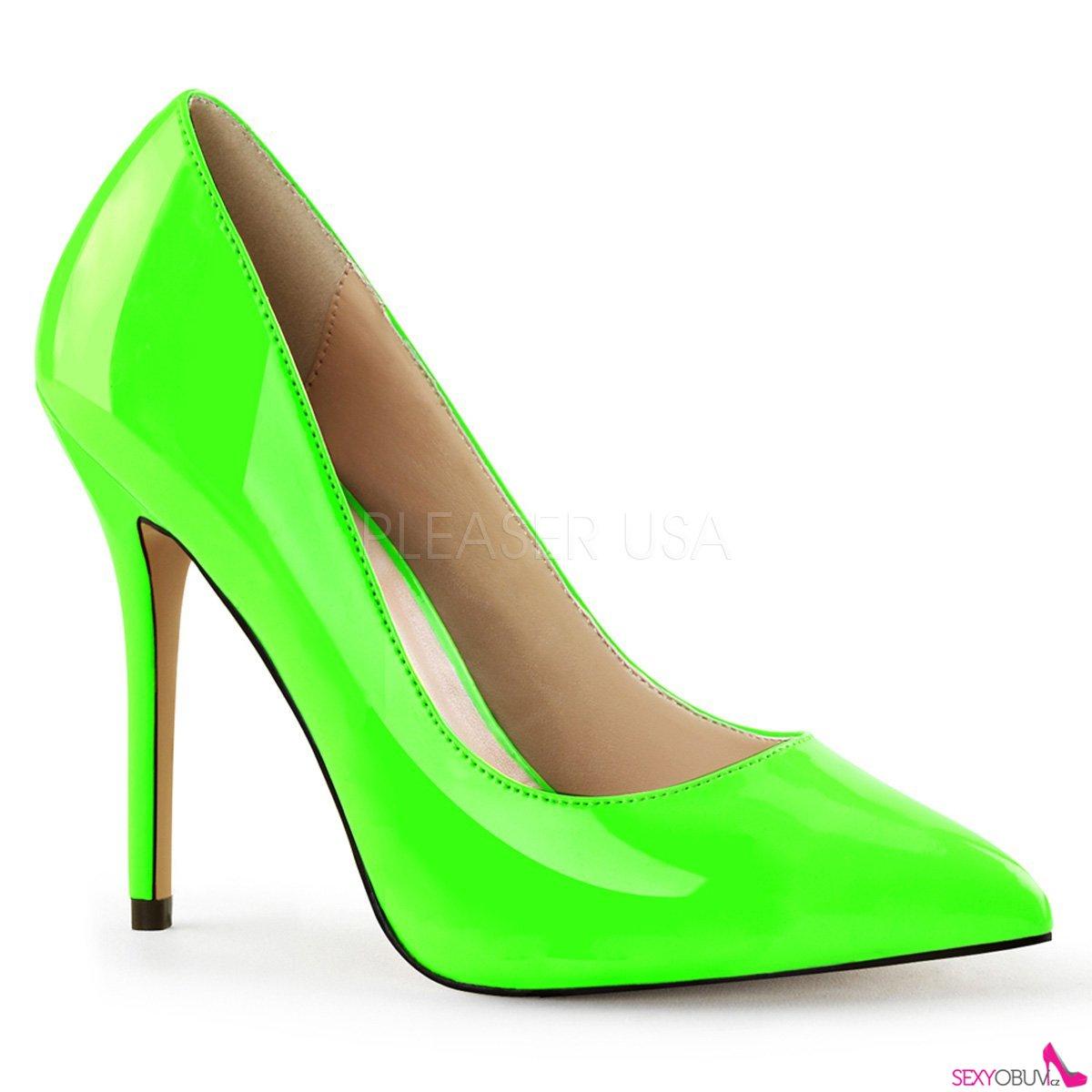 AMUSE-20 Klasické světle zelené dámské lodičky na vysokém podpatku ... 3f23d4801b