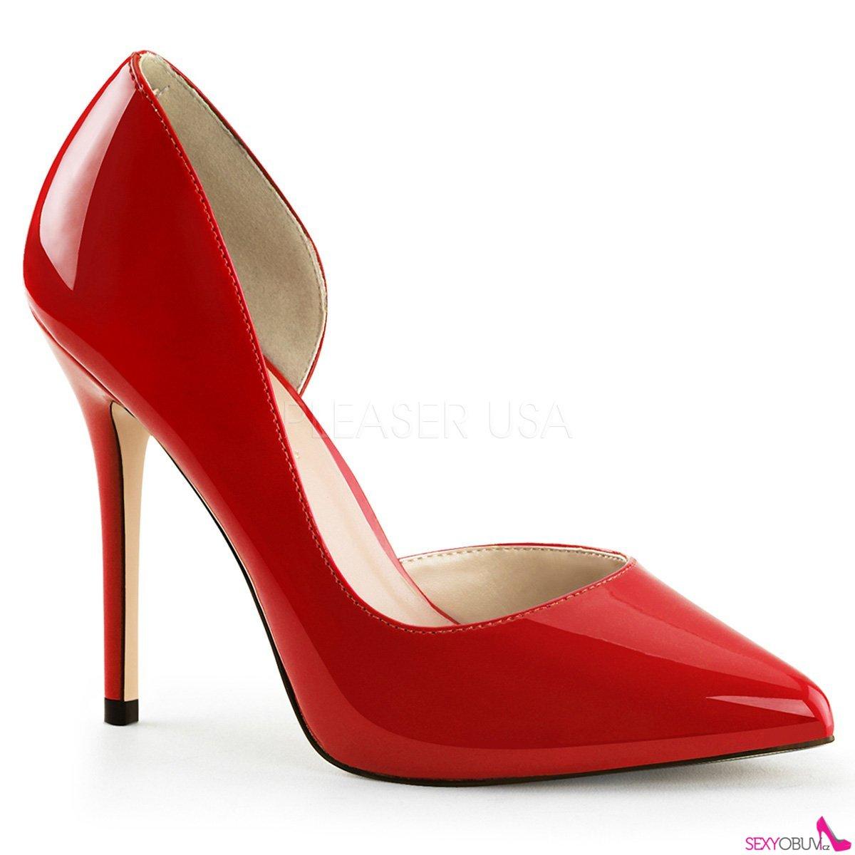 7533e3b37ae5 AMUSE-22 Sexy červené dámské lodičky na podpatku