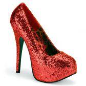 TEEZE-06GW Červené sexy dámské lodičky na podpatku a platformě