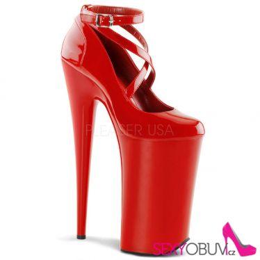 BEYOND-087 Extrémně vysoké červené sexy boty