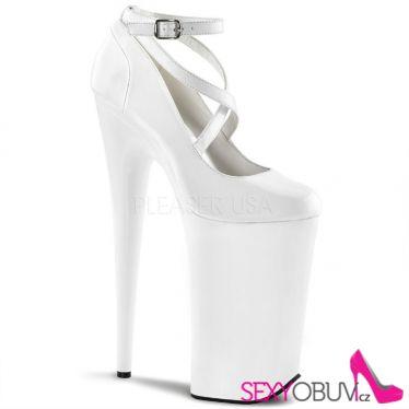 BEYOND-087 Extrémně vysoké bílé sexy boty
