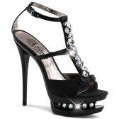 BLONDIE-R-628 Sexy luxusní páskové společenské boty na podpatku